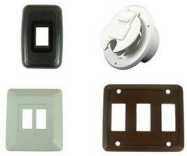 RV Outlet Covers, Face Plates & Bases